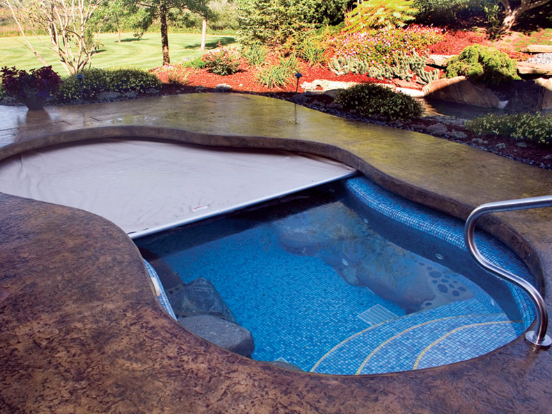 Secure your pool at night for Uses for old swimming pools